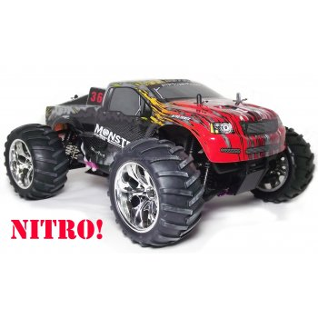 "Wind Hobby ""MONSTER"" Nitro Powered RC Monster Truck RTR 1/10 Scale with 2.4GHz Radio"