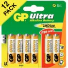 AA GP Ultra Alkaline Battery 12 Pack (8+4 Free)