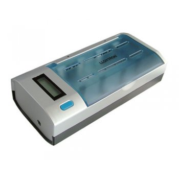 Lloytron Intelligent Universal Battery Charger with LCD display and rapid charging.