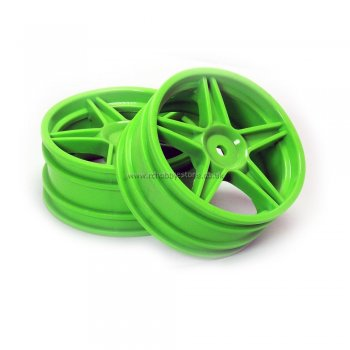 HSP 06008 Green Front Wheel Rims 2 pcs. Replacement Part for 1/10 RC Buggy