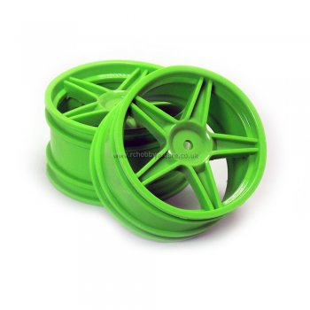 HSP 06024 Green Rear Wheel Rim 2 pcs. HSP, Atomic, Exceed, Himoto RC Buggy