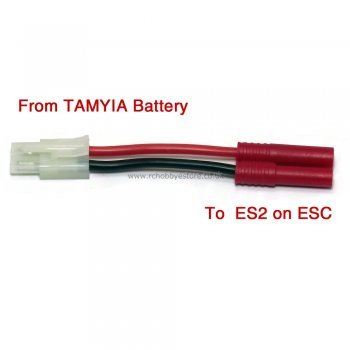 Adapter Cable - Male Tamiya to ES2 (Tamiya battery to ES2 on ESC)