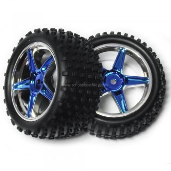 HSP 06026PB HSP Rear 1:10 Buggy Wheels complete with Off-Road Tyres.