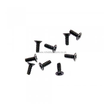 Wind Hobby 86077 Countersunk 3*9 Self Tap Screw 9 pcs. HSP Himoto Wind Hobby 1/16th scale.