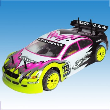 HSP Sonic 1/10 Scale Nitro Road Racer RTR with 2.4GHz Radio Included