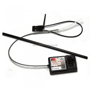 FS GT3C-2.4GHz 3 channel receiver for RC vehicles.