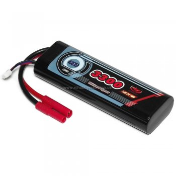 VP Racing 7.4V 3300mAh 30C Lipo Car Battery with round Hardcase - ES2