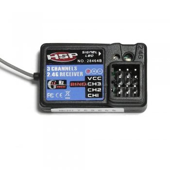 HSP 28464B (HSP-2.4GHz) 3 channel receiver for HSP Wind Hobby Himoto etc.