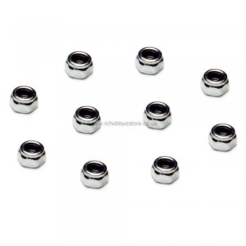 M4 Wheel Nut (Chrome colour) Pack 8 HSP 02055 for 1/16 / 1/10th Scale
