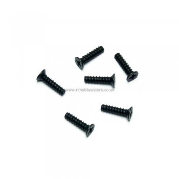 HSP 86079 2.6*10 Countersunk Self Tapping Screws 6pcs. HSP Himoto Wind Hobby Spare Parts