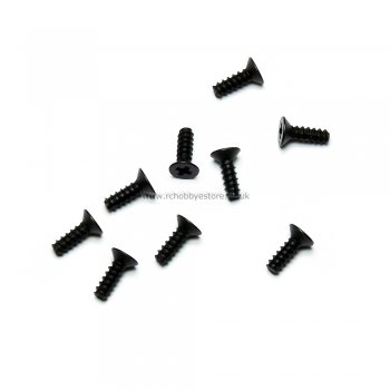HSP 86078 2.6*6 Countersunk Self Tapping Screws 9pcs. HSP Himoto Wind Hobby Spare Parts