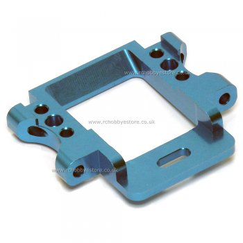 HSP 102060 Blue Aluminium Front Suspension Arm Holder/ Gear Box Mount 1/10 Scale