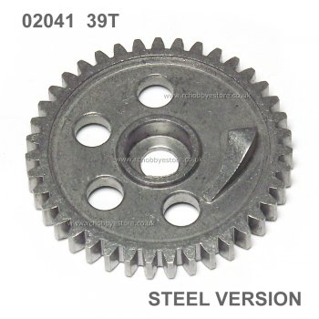 02041 Metal Throttle Spur Gear 39T for HSP, Atomic Amex,Himoto etc.
