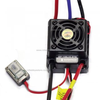 Hobbywing QUICRUN-WP10-BL60 Brushless 60A Sport ESC for RC Car or Truck (390A)