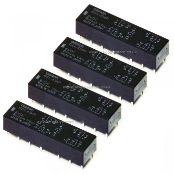 Omron G6A-434P 4PDT PCB Relay 6v coil (4.5-7.5V range) Pack of 4