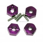 102042 Aluminum Wheel Hex 4P (02134) HSP 1/10th 4WD R/C Upgrade Parts (Purple)