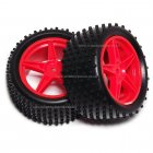 06026 HSP Red Rear Buggy Wheels complete with Off-Road Tyres.