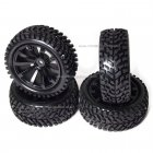 10 Spoke Wheel & Tyre Set 4P in Black 1:10/ 1/16 scale