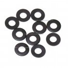 M4 Flat Washer in black - Various pack sizes