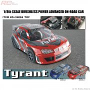 TYRANT TOP Spec 1/8 Advanced On-Road Subaru Lipo Brushless RC Car