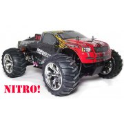 """MONSTER"" Nitro Powered RC Monster Truck RTR 1/10 Scale with 2.4GHz Radio"