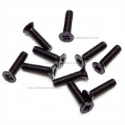 M3x12 mm Countersunk Pozi Machine Screw (black) Pack of 100