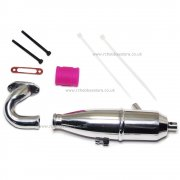 102009 (02124) Aluminium Upgrade Exhaust Kit 1/10th scale HSP Atomic, Tyranno Himoto RC Cars