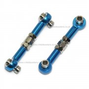 122017 02157B Aluminium Steering Linkage 2P Blue for RC Cars 1/10th R/C Upgrade Parts UK