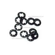M3 Shake Proof Washer in black - Various pack sizes