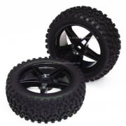 06010-BK Front 1:10 Buggy Wheels with Off-Road Tyres.
