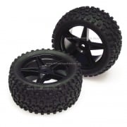 06026BK Rear 1:10 Buggy Wheels and Off-Road Tyres.