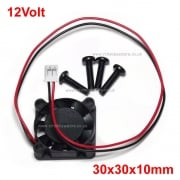 12V Mini ESC Fan 30x30x10mm 3010-12